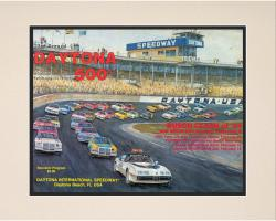 23rd Annual 1981 Daytona 500 Matted 10.5 x 14 Program Print - Mounted Memories