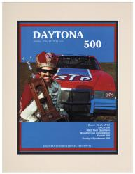 "Matted 10 1/2"" x 14"" 24th Annual 1982 Daytona 500 Program Print"