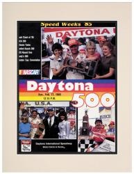 Matted 10 1/2'' x 14'' 27th Annual 1985 Daytona 500 Program Print - Mounted Memories