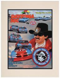 "Matted 10 1/2"" x 14"" 33rd Annual 1991 Daytona 500 Program Print"