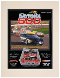 "Matted 10 1/2"" x 14"" 38th Annual 1996 Daytona 500 Program Print"