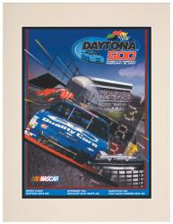 "Matted 10 1/2"" x 14"" 39th Annual 1997 Daytona 500 Program Print - Mounted Memories"