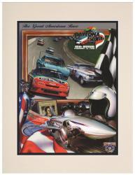 "Matted 10 1/2"" x 14"" 40th Annual 1998 Daytona 500 Program Print"