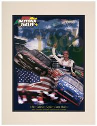"Matted 10.5"" x 14"" 41st Annual 1999 Daytona 500 Program Print - Mounted Memories"
