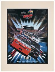 Matted 10 1/2'' x 14'' 42nd Annual 2000 Daytona 500 Program Print - Mounted Memories