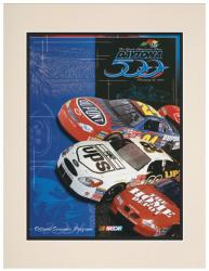 "Matted 10 1/2"" x 14"" 43rd Annual 2001 Daytona 500 Program Print"