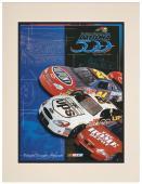 "Matted 10 1/2"" x 14"" 43rd Annual 2001 Daytona 500 Program Print"
