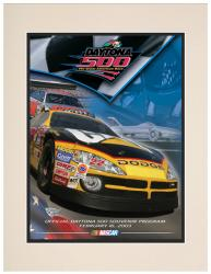 "Matted 10 1/2"" x 14"" 45th Annual 2003 Daytona 500 Program Print"