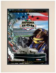 Matted 10 1/2'' x 14'' 46th Annual 2004 Daytona 500 Program Print - Mounted Memories