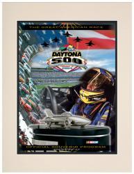"Matted 10 1/2"" x 14"" 46th Annual 2004 Daytona 500 Program Print"