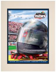 Matted 10 1/2'' x 14'' 48th Annual 2006 Daytona 500 Program Print - Mounted Memories