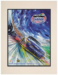 Matted 10 1/2'' x 14'' 49th Annual 2007 Daytona 500 Program Print - Mounted Memories