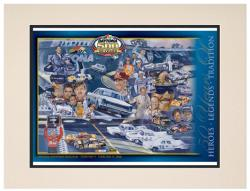 "Matted 10.5"" x 14"" 50th Annual 2008 Daytona 500 Program Print - Mounted Memories"
