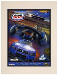 "Matted 10 1/2"" x 14"" 51st Annual 2009 Daytona 500 Program Print"