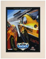 Matted 10 1/2'' x 14'' 52nd Annual 2010 Daytona 500 Program Print - Mounted Memories