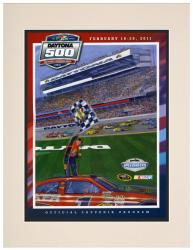 53rd Annual 2011 Daytona 500 Matted 10.5 x 14 Program Print - Mounted Memories
