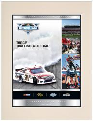 "Matted 10 1/2"" x 14"" 54th Annual 2012 Daytona 500 Program Print - Mounted Memories"