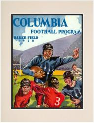 1928 Columbia Lions Season Cover 10 1/2 x 14 Matted Historic Football Poster
