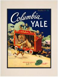 1948 Yale Bulldogs vs Columbia Lions 10 1/2 x 14 Matted Photo Historic Football Poster - Mounted Memories