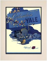 1950 Yale Bulldogs vs Columbia Lions 10 1/2 x 14 Matted Historic Football Poster - Mounted Memories