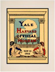 1904 Yale Bulldogs vs Harvard Crimson 10 1/2x14 Matted Historic Football Program Photo - Mounted Memories
