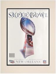 "2002 Patriots vs Rams 10.5"" x 14"" Matted Super Bowl XXXVI Program"