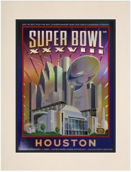 "2004 Patriots vs Panthers 10.5"" x 14"" Matted Super Bowl XXXVIII Program"