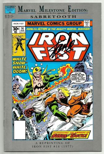 Stan Lee Signed Marvel Milestone Iron Fist #14 Comic W/ Stan Lee Hologram