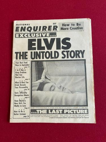 "1977, Elvis Presley, ""National Enquirer"" (Death Photo) Scarce / Vintage"