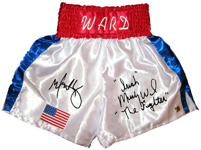 "Mark Wahlberg & ""Irish"" Micky Ward ""The Fighter"" Signed Trunks"