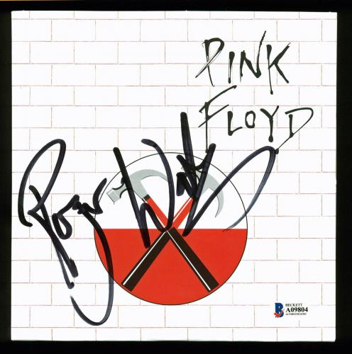Roger Waters Pink Floyd Signed Run Like Hell 45 RPM Single Album Cover BAS