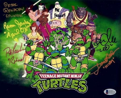 Teenage Mutant Ninja Turtles Cast Signed Autographed 8X10 Photo 7 Autos Beckett