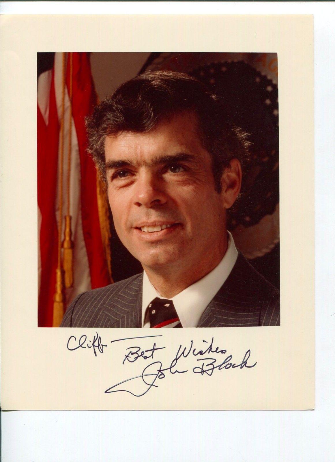 Autographed John Block Photo - Secretary Agriculture Autograph