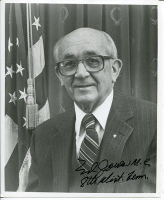 Ed Jones Autographed Photo - Tennessee Representative Congress