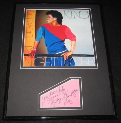 King Signed Picture - Evelyn Champagne Framed 11x14 Display JSA