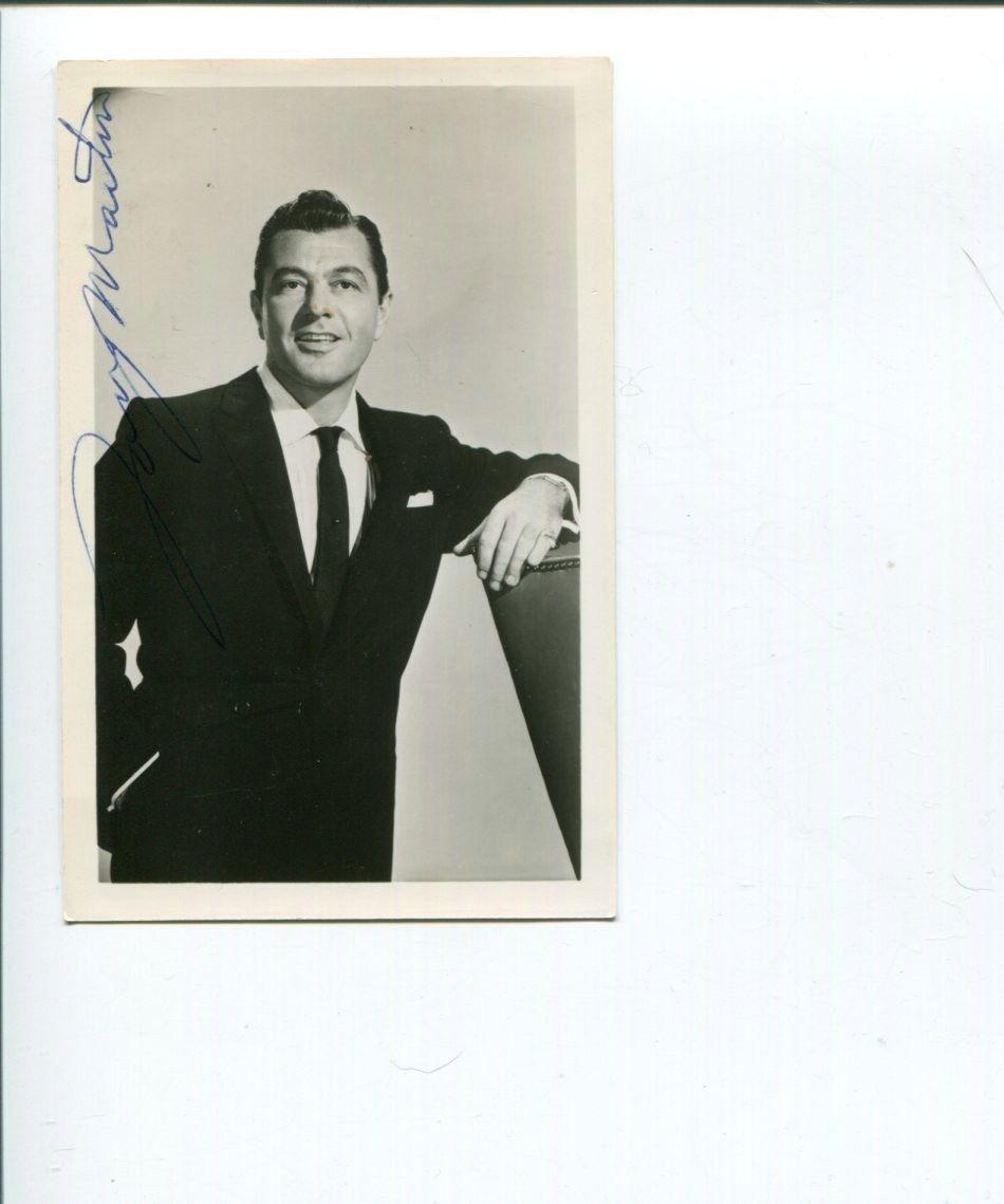 Tony Martin Signed Photo - Actor The Big Store & Singer
