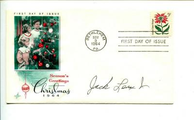 Jack Lenox WWII War Fighter Ace Signed Autograph FDC