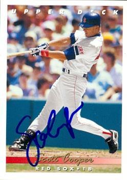 Scott Cooper autographed Baseball Card (Boston Red Sox) 1993 Upper Deck #57