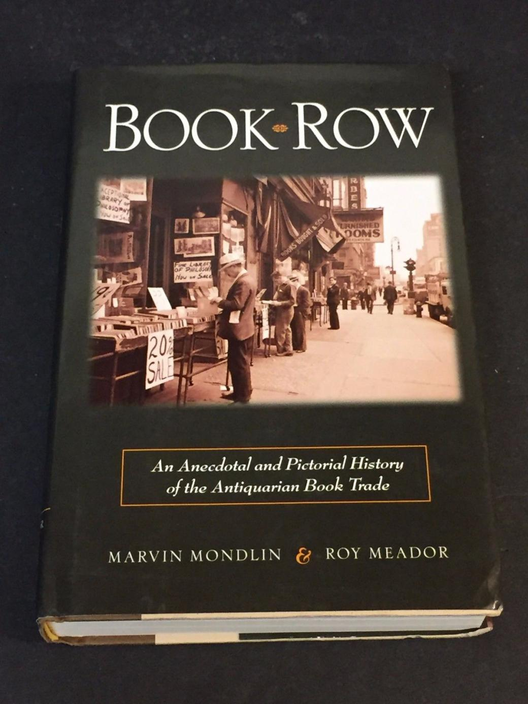 Marvin Mondlin Book Row Signed Autograph 1st Edition Hardback Book