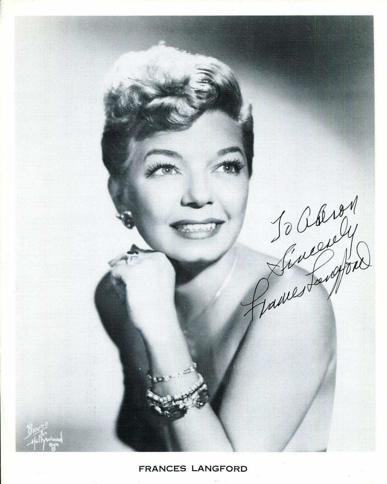 Frances Langford Jazz Big Band Signer Actress Signed Autograph Photo