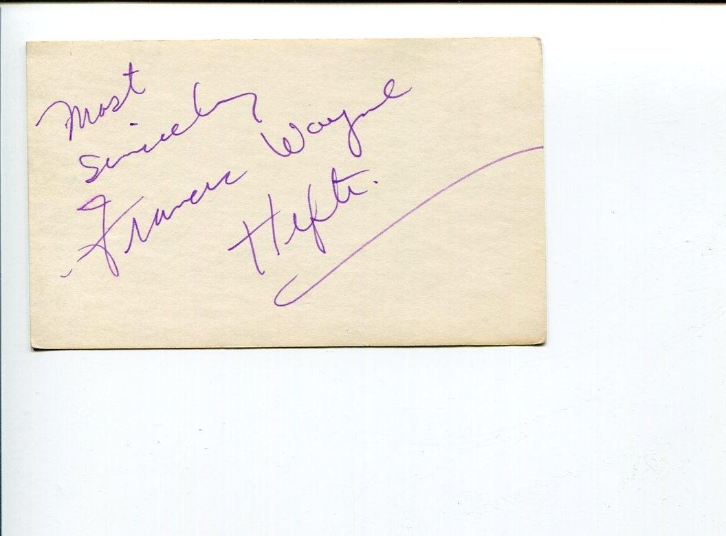 Francis Wayne Hefti Jazz Great Singer Rare Signed Autograph