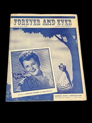 Margaret Whiting Jazz Big Band Singer Signed Autograph SheetMusic Photo