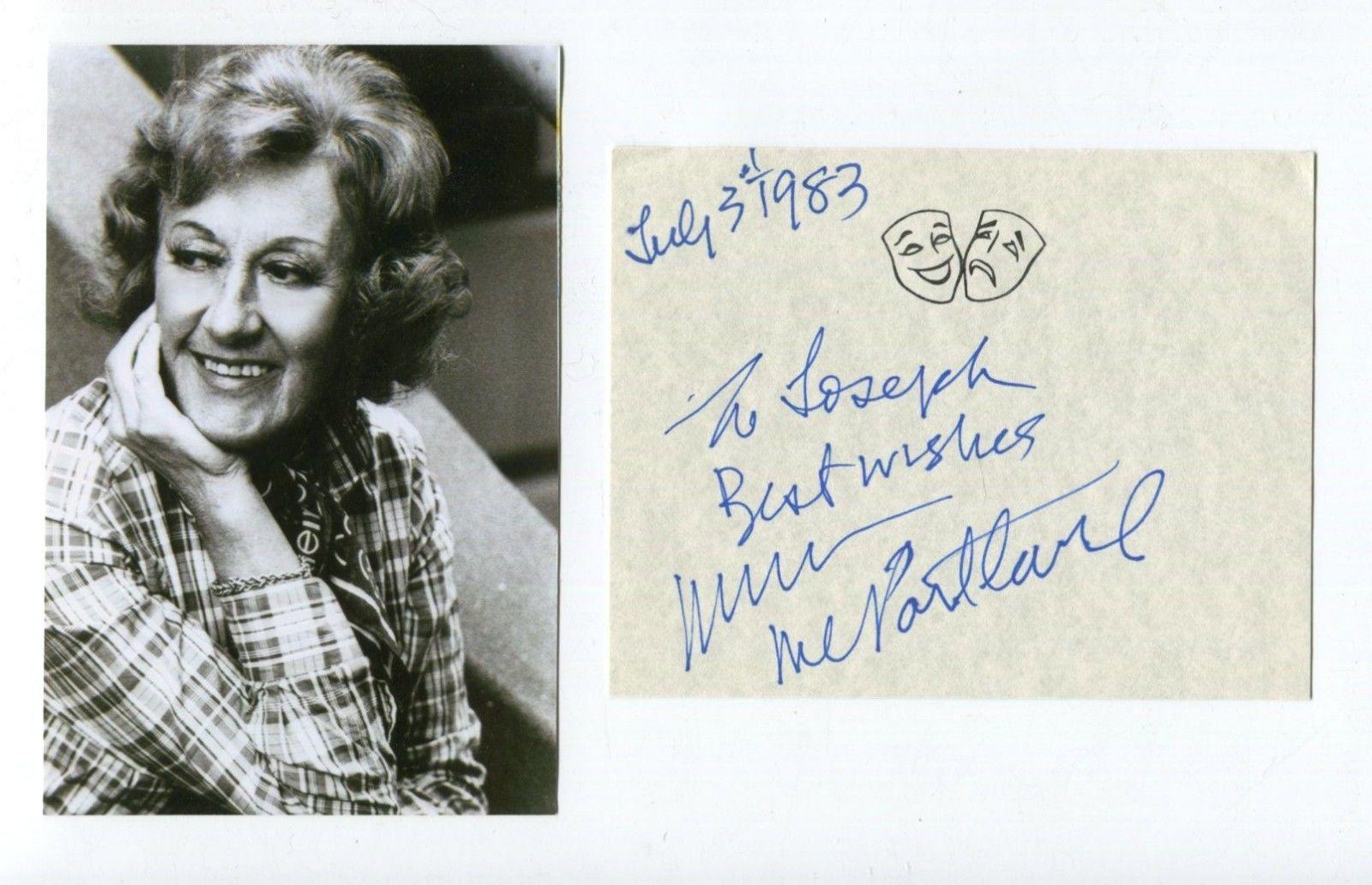 Marian McPartland Jazz Big Band Singer Signed Autograph w/ Photo