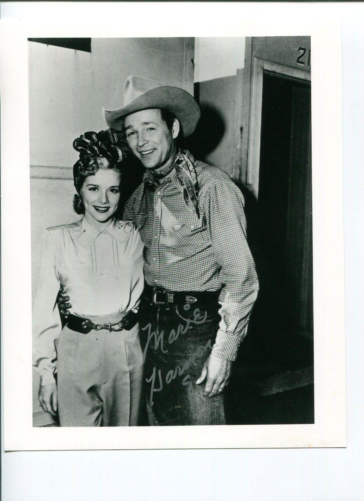 Roy Rogers Signed Photograph - Marie Harmon Cowboy Western w
