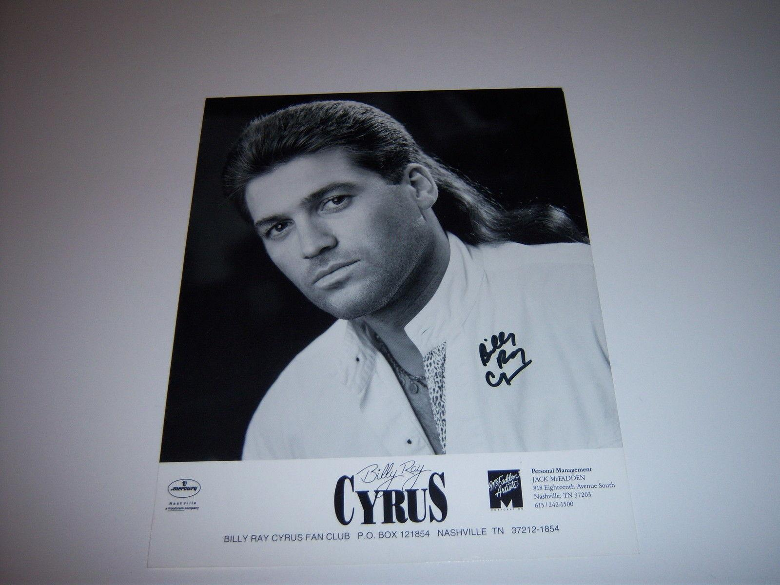Billy Ray Cyrus Country Singer W/coa Signed 8x10 Photo