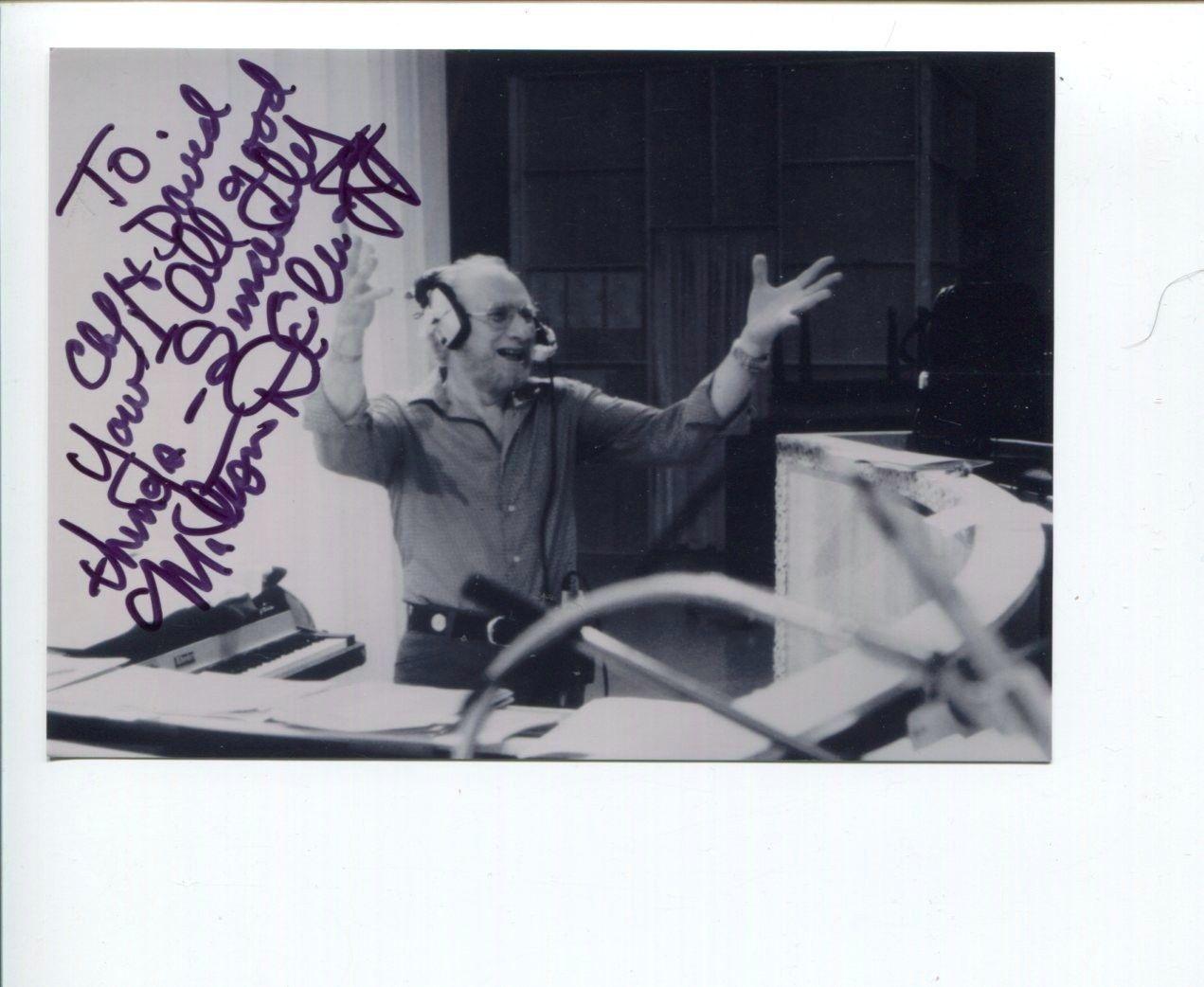 Milton DeLugg Jazz Big Band Composer Signed Autograph Photo