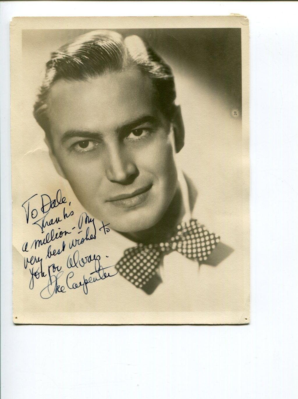 Isaac Ike Carpenter Jazz Big Band Pianist Bandleader Signed Autograph Photo