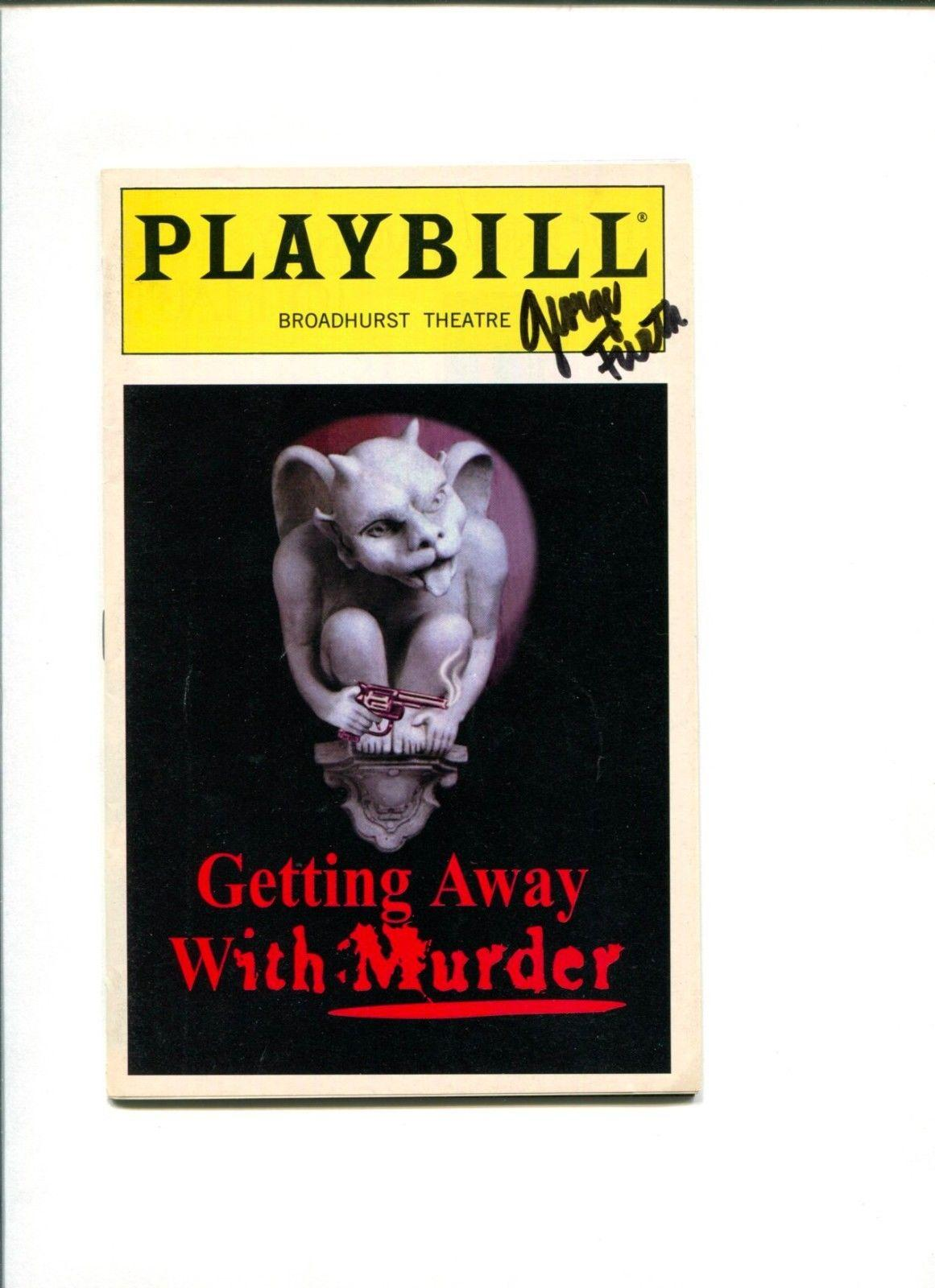 George Furth Getting Away With Murder Broadway Play Signed Autograph Playbill