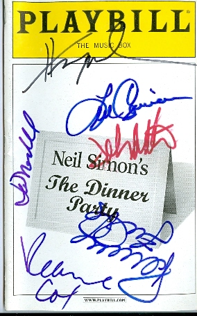 The Dinner Party autographed Broadway Playbill by Henry Winkler, Penny Fuller, Len Cariou, Veanne Cox, & John Ritter