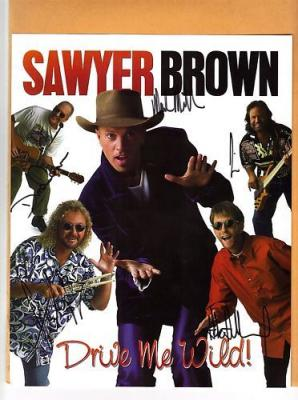 Sawyer Brown-signed photo of the whole band